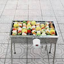 Bếp nướng than hoa V5M, quay tự động, dùng sạc dự phòng, lò quay vịt: Đa  năng, chín đều, an toàn sức khỏe, inox bền đẹp, bếp nướng tự xoay, lò nướng