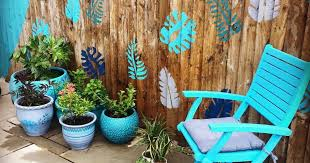 Fence Painting With Stencils Housebound With Kids