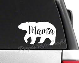 Mama Bear Decal Sticker Mama Bear Decal Bear Decal Mama Bear