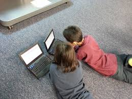 Free Images : laptop, computer, girl, play, floor, boy, sitting ...