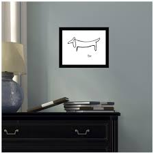 Amanti Art Le Chien The Dog By Pablo Picasso Framed Print Wall Art Dsw4582822 The Home Depot