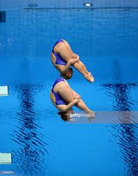 USA divers Abigail Johnston and Kelci Bryant execute a back two and a...  News Photo - Getty Images