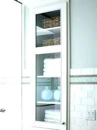 built in wall shelves bathroom
