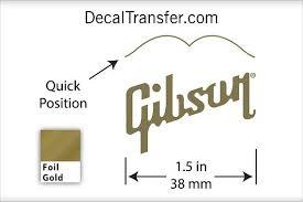 Gibson Logo Foil Gold Guitar Headstock Dry Rub On Transfer Etsy Dry Rub Guitar Gibson