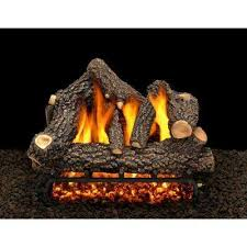 vented gas fireplace logs gas logs