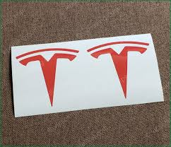 Tesla Model X Front Logo Emblem Inlay High Cast Vinyl Decal Sticker Any Color Vipselling