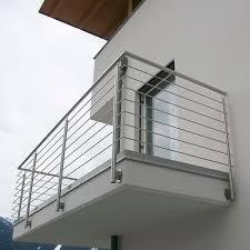 balcony with bars inox design