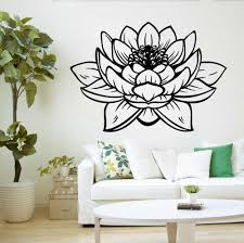 Yoga Studio Meditation Vinyl Wall Stickers Decor Lotus Flower Buddha Wallpaper Personality Patten Wall Decal Mural Sa162 Wall Decals Wall Sticker Decorvinyl Wall Aliexpress