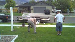 How To Install A Vinyl Fence Part 1 Youtube
