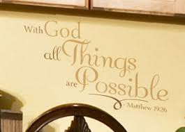 With God All Things Are V2 Wall Decal
