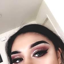 glitter cut crease makeup look min