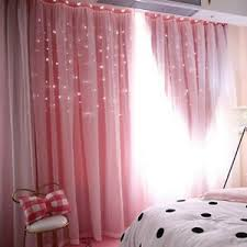 Double Layer Blackout Curtains Starry Floor Curtain Curtains Kids Bedroom Decor Ebay