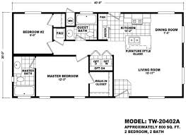 floor plan tw 20402a 20 wide homes