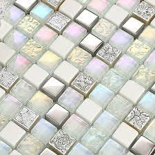 rainbow crystal mosaic tiles glass