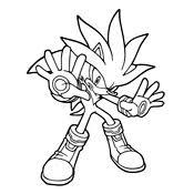 Kleurplaten Sonic Sega