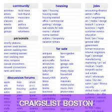 craigslist boston craigslist