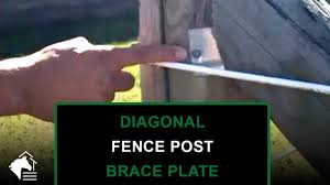 Wood Fence Posts Diagonal Brace Plates Are The Backbone Of Your Fence System Youtube