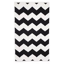 laa black small cotton rug 60x90cm