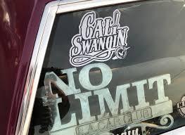 Cali Swangin Window Decal 4x6