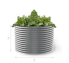 round colorbond raised garden beds