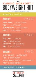 cardio workout 1 bodyweight hiit self