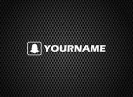 Snapchat Name Decal Car Window Vinyl Sticker Jdm Drift Stance Ebay