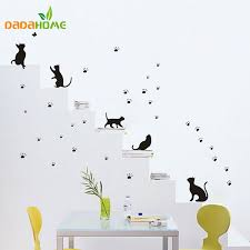 paw prints wall sticker wall mural