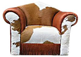 clean cowhide furniture and decor