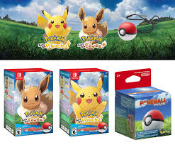 Nintendo Switch Pokemon Let's Go Pikachu & Eevee Edition Game w ...