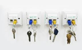rj 45 ethernet keychain wall rack