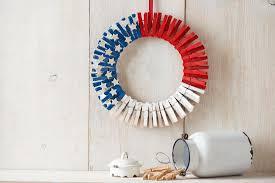 patriotic clothespin wreath embracing