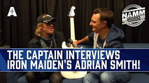 The Captain Meets Iron Maiden's Adrian Smith! - NAMM 2020 - YouTube