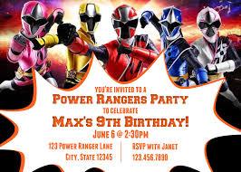 9th Birthday Power Rangers Ninja Steel Birthday Party Etsy