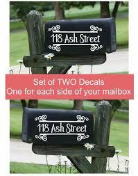 Custom Mailbox Decals Address Number Stickers