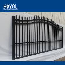 China Modern Metal Simple Manual Automatic Aluminum Sliding Driveway Gate System Designs Drawing For Homes China Aluminum Metal