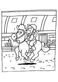Haar Lievelingsdier En Haar Hobby Paardrijden Kleurplaten