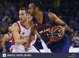 FC Barcelona player Lassa Adam Hanga (R) vies a ball against Stock Photo -  Alamy