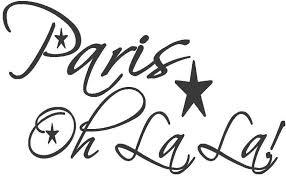 Amazon Com Vinyl Decal Eiffel Tower Paris Ooh La La Wall Decor Sticker Wall Quote Vinyl Words Lettering Quotes Home Kitchen