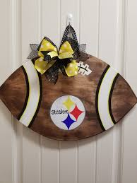 Steelers Door Hanger Pittsburgh Steelers Football Door Etsy