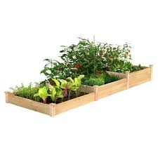 Greenes Fence 4 Ft X 12 Ft Stair Step Original Cedar Raised Garden Bed Rc2t10s31b The Home Depot