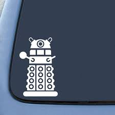 Amazon Com Dalek Sticker Decal Notebook Car Laptop 4 White Automotive