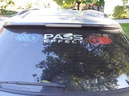 My Brother In Laws Rear Window Decal Love It Masseffect