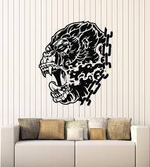 Vinyl Wall Decal Primate Gorilla Head Evil Monkey Collar Stickers Mura Wallstickers4you