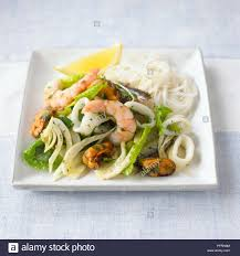 Seafood and fennel salad with noodles ...