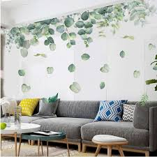 Pvc Removable Nursery Green Foliage Leaves Botanical Wall Sticker Living Room Bedroom Decoration Art Mural Wall Decal Wall Stickers Aliexpress