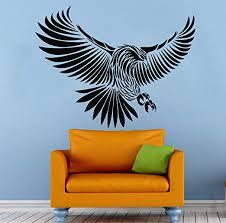 Amazon Com Eagle Wall Decal Bird Of Prey Bald Eagle Head Hawk Decals Wall Vinyl Sticker Art Wall Decor Bedroom Mural 21s Kitchen Dining