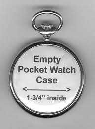 empty pocket watch case