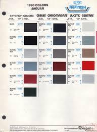 jaguar paint chart color reference