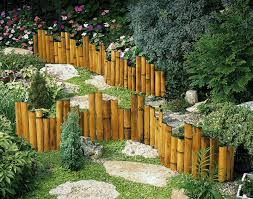 Landscape Edging Bamboo Bamboo Garden Fences Bamboo Landscape Bamboo Garden