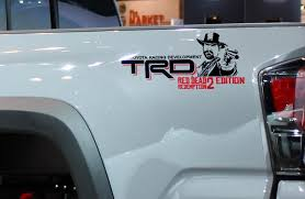 Product Pair Of Trd Red Dead Redemption Edition Bed Side Decals Stickers 2 Colors Toyota Tacoma Tundra Fj